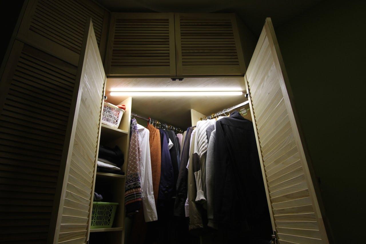 Подсветка светодиодной лентой шкафа-купе