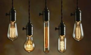 включеные лампочки