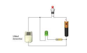схема беспроводного звонка с диодом