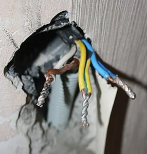 проводка для электрической плиты