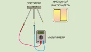 проверка напряжения мультиметром
