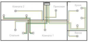 монтажная схема проводки
