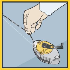 работа с разметочным шнуром