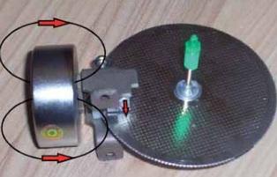 Алюминиевый диск электросчетчика