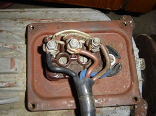 Вводная коробка электродвигателя