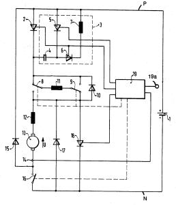 Схема рекуперативного торможения ассинхронного двигателя