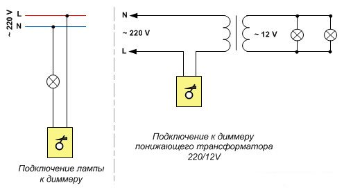 схема диммера с трансформатором